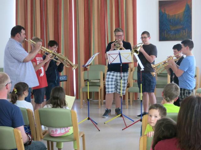 Schülerkonzert im Gemeindesaal am 12.05.2015