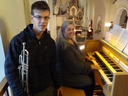 Trompetenklänge erfüllten die Pfarrkirche Gaubitsch