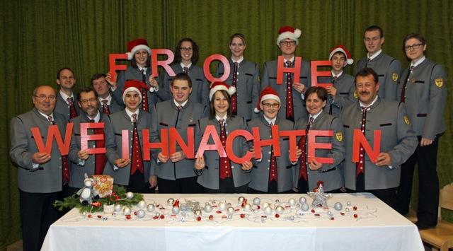 Der Musikverein Gaubitsch wünscht Frohe Weihnachten